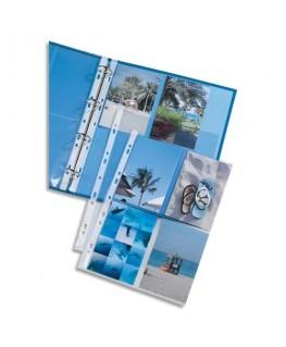 Sachet de 10 pochettes perforées pour 8 photos 10 x 15 cm