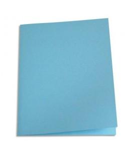 Paquet de 250 sous-chemises papier recyclé 60g coloris bleu - Pergamy