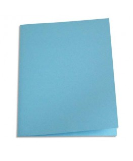 Paquet de 100 chemises carte recyclée 180g coloris bleu clair - Pergamy