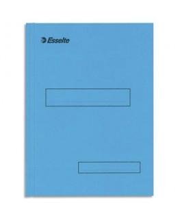 Boîte de 100 sous-dossiers 160g à 2 rabats bleu Scor