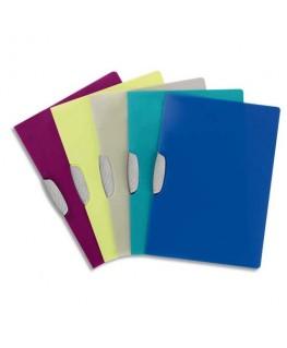 Chemise de présentation à clip Swing Clip coloris assortis translucides - Durable