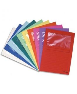 Paquet de 25 pochettes coins en carte 120 g avec fenêtre