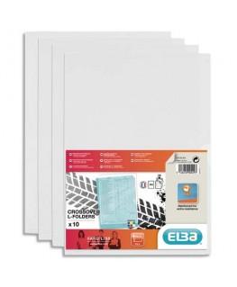 Sachet de 10 pochettes-coin Fard'liss incolore en PVC 20/100e - Elba®