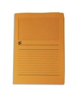 Paquet de 50 pochettes-coin 22 x 31 cm en carte 120g avec fenêtre