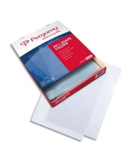 Boîte de 100 pochettes-coin polypropylène grainé 9/100ème format A4