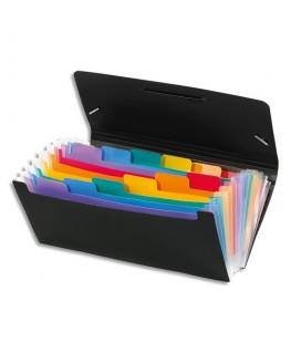 Trieur chèque RAINBOW CLASS noir avec 13 compartiments intérieur multicolore - Viquel