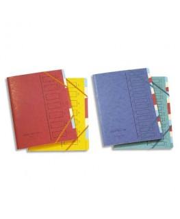 Trieur en carte forte 4.3/10e 7 compartiments coloris assortis - Emey