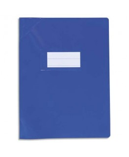 Protège-cahier bleu Strong Line Opaque + renforcés 30/100e