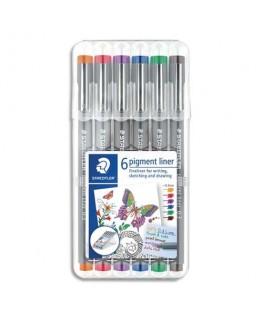 Etui de 6 stylos feutres stylos pigment liner 308
