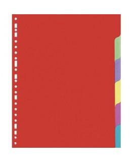Jeu d'intercalaires 6 positions en carte lustrée colorée 225g