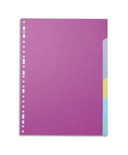 Jeu d'intercalaires 6 positions en carte colorée 160g A4 - 5 Etoiles