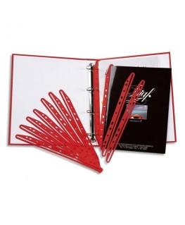 Paquet de 100 bandes perforées porte-revues MAGI CLIP rouge - 5 Etoiles