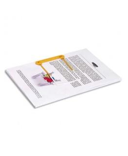 Boîte de 100 clip tube jaune 3 pièces pour archiver et consulter les documents - Bankers Box® by Fellowes®