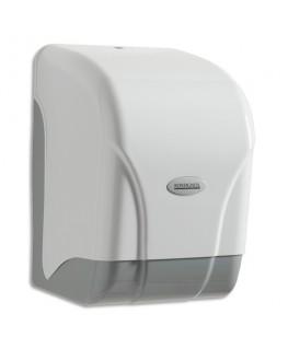Distributeur Oléane pour essuie-mains à dévidage central gris transparent couvercle blanc - Rossignol