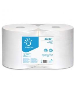 Lot de 2 bobines d'essuyage industrielle 2 plis pure cellulose