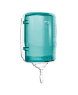 Distributeur Mini Reflex à dévidage central feuille à feuille 19 x 32 x 21 cm transparent fumé bleu - Tork®