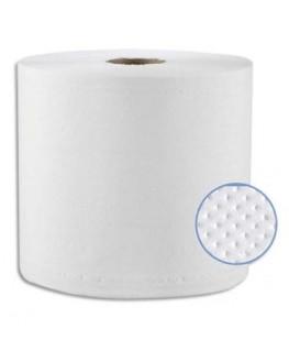 Lot de 2 bobines d'essuyage industrielles ultra absorbante 2 plis 1000 formats 26 x 32 cm blanche