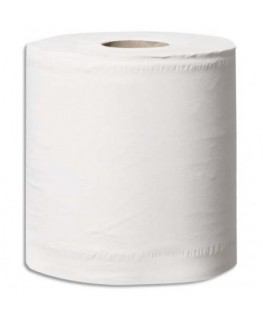 Lot 6 bobines de papier d'essuyage blanc 2 plis 108 m 450 Formats prédécoupés 24 x 19 cm