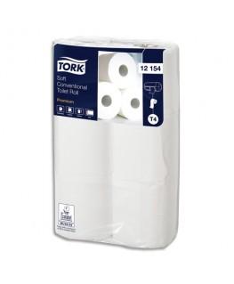Colis de 6 rouleaux papier toilette Premium micro gaufré 2 plis 198 feuilles - Tork®