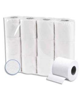 Colis de 48 rouleaux papier toilette Extra blanc ouate 2 plis recyclée 200 feuilles