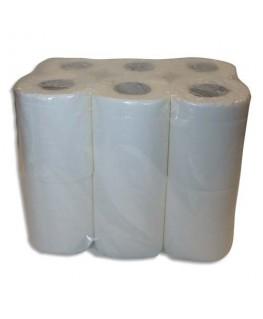 Colis de 4 paquets de 12 rouleaux de papier toilette pure ouate 2 plis 144 formats blancs
