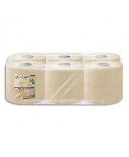 Colis de 12 rouleaux papier toilette Jumbo