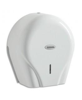 Distributeur Oleane pour papier toilette 400 m avec clef blanc pour maxi et mini jumbo - Rossignol
