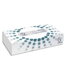 Boîte de 100 mouchoirs jetables enchevêtrés 2 plis blanc - Papernet®