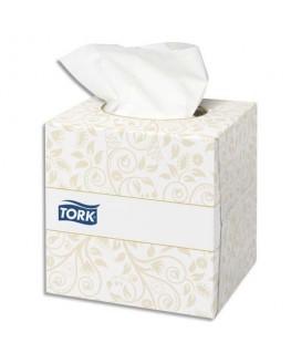 Boîte cube de 100 Mouchoirs 2 plis ouate extra doux blanche 21 x 20 cm - Tork®