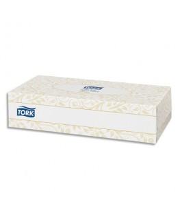 Boîte de 100 mouchoirs jetables enchevetrés 2 plis blanc - Tork®