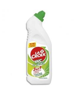 Flacon de gel WC avec javel 750 ml nettoyant désinfectant anti-tartre 3 en 1 - La Croix