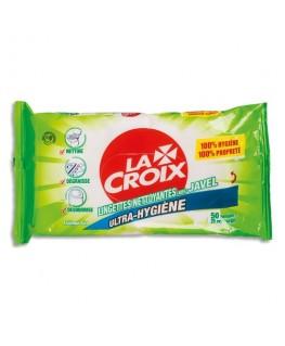 Paquet de 50 lingettes multi-usages nettoyantes et désinfectantes avec javel - La Croix
