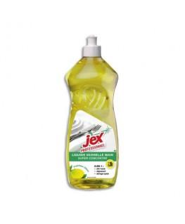 Flacon 1 litre de liquide vaisselle doux pour les mains parfum citron vert - Jex professionnel