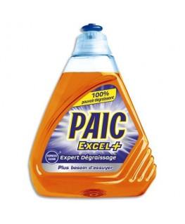 Flacon de 500 ml de liquide vaisselle main Excel+ Expert dégraissage parfum citron - Paic®