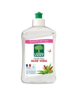 Flacon de 500 ml liquide vaisselle mains parfum Aloe Vera Ecolabel - L'Arbre Vert