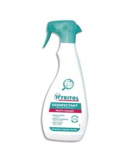 Spray 750 ml nettoyant désinfectant toutes surfaces - Wyritol