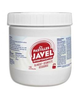 Boîte de 300 pastilles javel standards économiques maxi format 1 Kg désinfection sols et surfaces