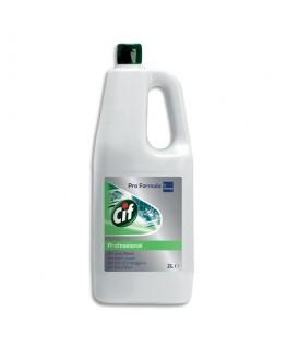Bidon de 2 litres gel nettoyant javellisé pour tâches difficiles sols et surfaces - CIF
