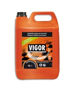 Bidon de 5 litres nettoyant industriel à l'ammoniac - Vigor