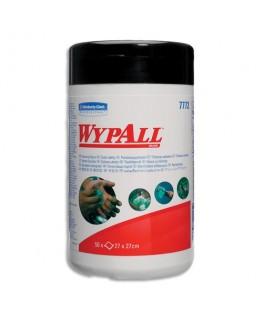 Baril hermétique de 50 lingettes nettoyantes 27 x 27 cm WYPALL - Kimberly-Clark