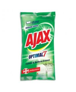 Paquet de 50 lingettes Optimal7 antibactérien pour cuisine et surfaces grasses