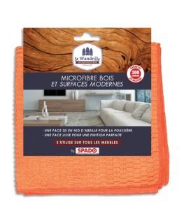 Chiffon microfibre double face spéciale bois et surfaces modernes