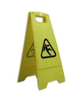 Panneau Attention sol glissant jaune et noir - Viso