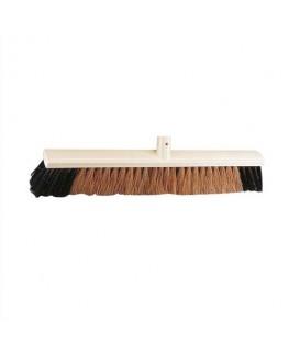 Balai coco d'intérieur monture en bois douille en métallargeur 60 cm - Brosserie Thomas