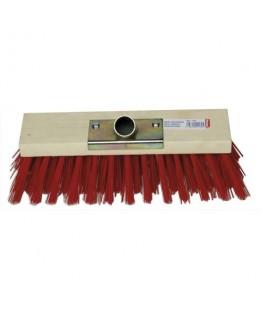 Balai cantonnier d'extérieur monture bois fibre PVC douille en métal largeur 30 cm - Brosserie Thomas