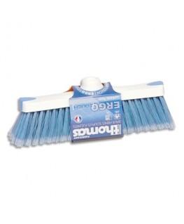 Balai en fibre en PVC souple bleue Ergotouch