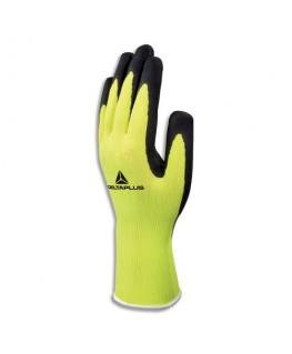 Paire de gants Apollon jaune fluo noir en polyester