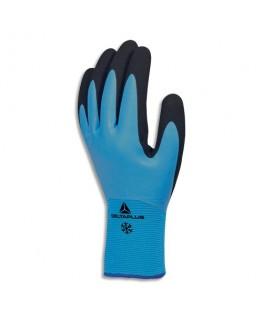 Paire de gants hiver Thrym bleu noir en polyamide et acrylique