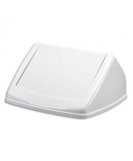 Couvercle basculant pour poubelle Durabin Square 40 blanc - Durable