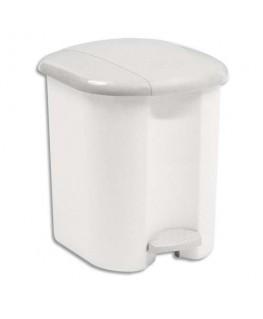 Collecteur blanc 15 litres avec pédale - Rubbermaid®